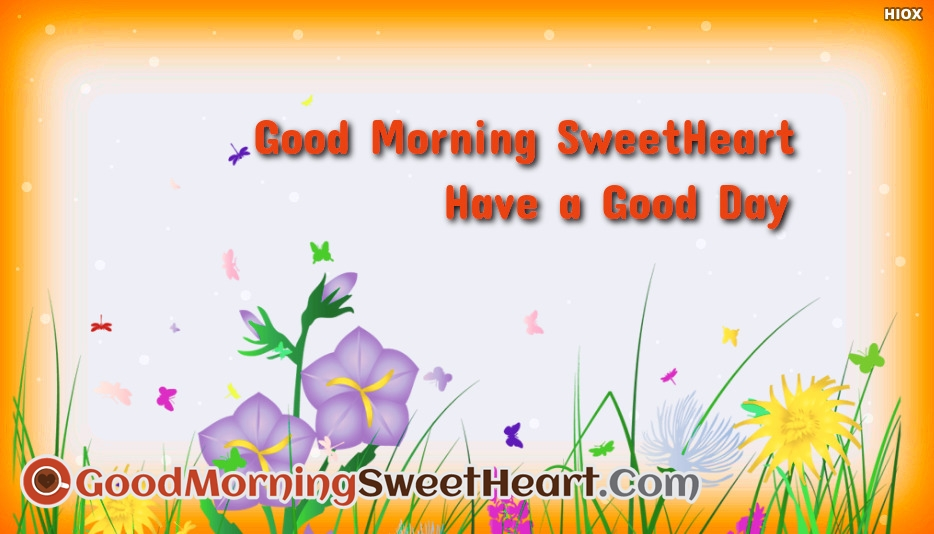 Good Morning Sweet Heart and Have A Good Day