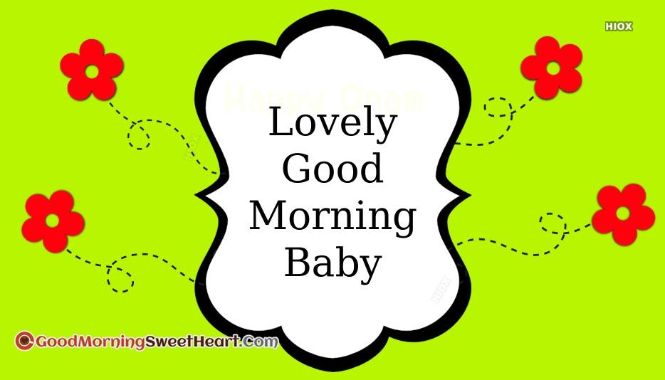Lovely Good Morning Baby