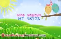 Good Morning My Cutie