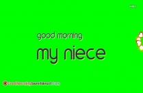 Good Morning My Niece
