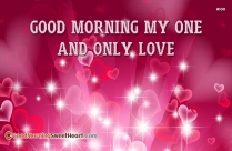 Good Morning My Only Love