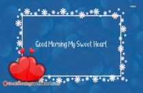 Good Morning My Sweet Heart Wallpaper