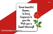 Good Morning Sweet Msg