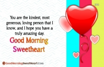 Good Morning Sweetheart Love Quotes