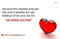 Good Morning To Sweetheart Sms