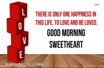 Good Morning To Sweetheart Quotes