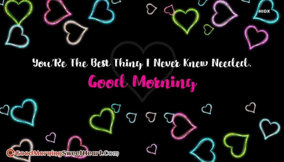 Love Sayings Good Morning Sweetheart Images